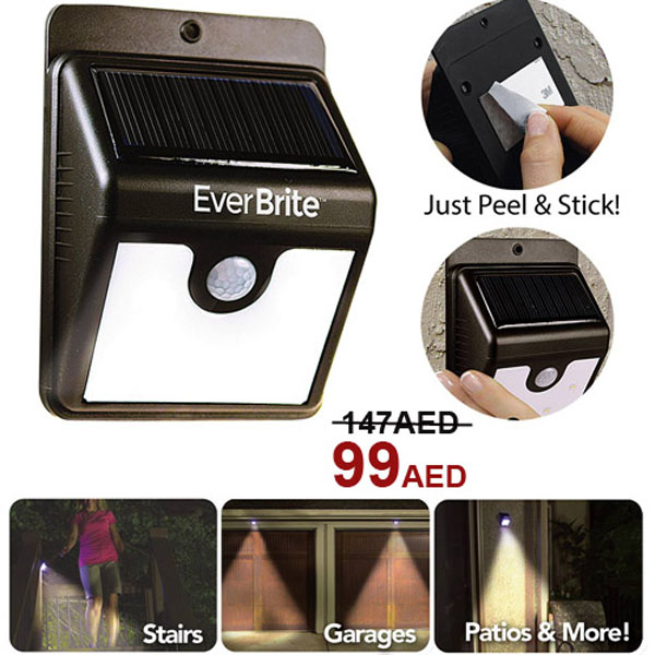 Đèn cảm ứng năng lượng mặt trời Ever Brite cảm biến tự động tiện ích giá rẻ