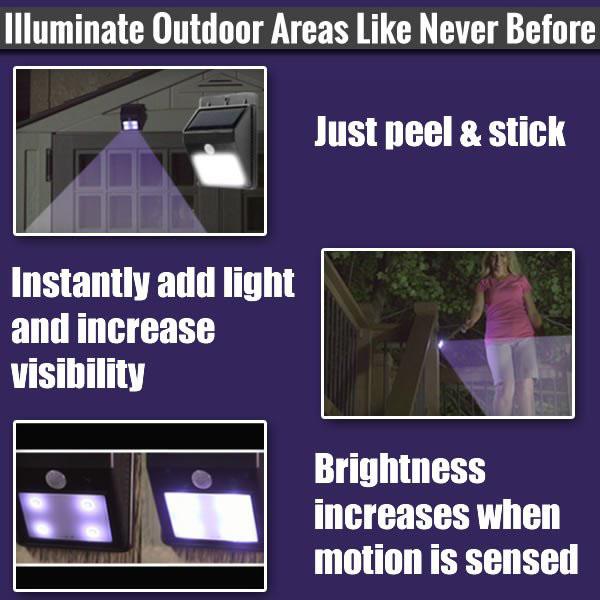 Đèn cảm ứng năng lượng mặt trời Ever Brite cảm biến tự động ánh sáng mọi lúc mọi nơi