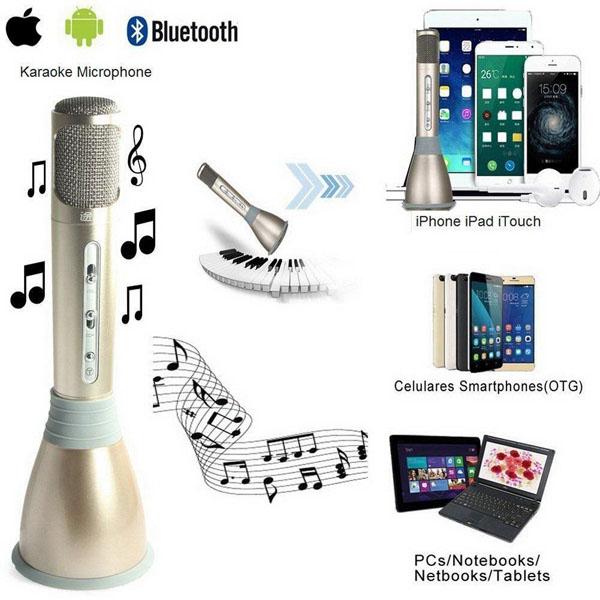 Micro karaoke bluetooth không dây kiêm loa Tuxun K068 giải trí bất tận