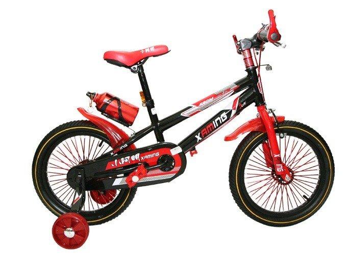 Xe đạp địa hình trẻ em Xaming mầu đỏ hành động