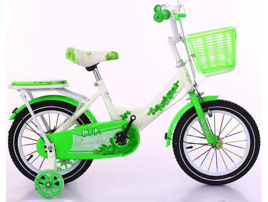 Xe đạp trẻ em Youmi model đẹp dịu dàng cho các bé gái màu xanh