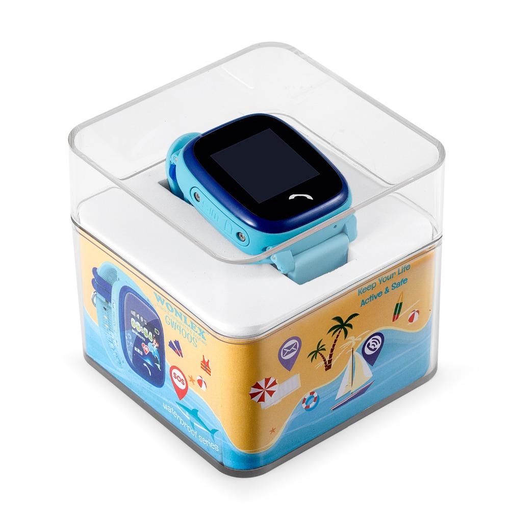 Đồng hồ thông minh định vị gps cho trẻ em chống nước IP67 siêu bền wonlex GW400S thiết kế đẹp