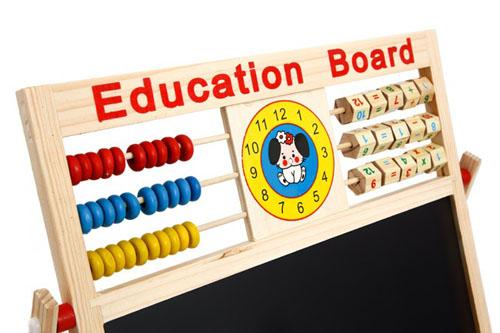 Bảng chữ cái tiếng việt bằng gỗ có nam châm cho bé bàn tính cổ giúp bé học toán