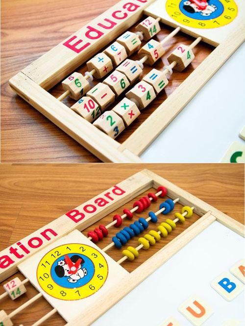 Bảng chữ cái tiếng việt bằng gỗ có nam châm cho bé màu sắc bắt mắt