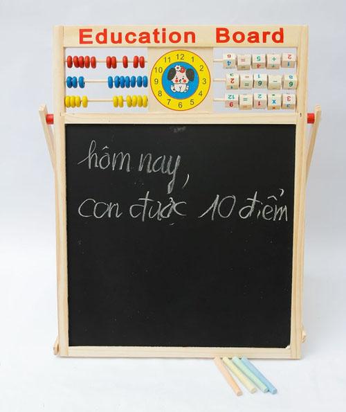 Bảng chữ cái tiếng việt bằng gỗ có nam châm cho bé phần viết phấn
