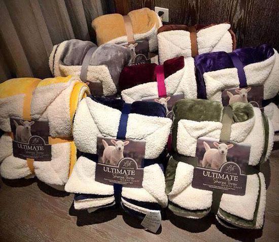 Chăn lông cừu Ultimate cao cấp nhập khẩu siêu nhẹ giá rẻ 2x2,3m