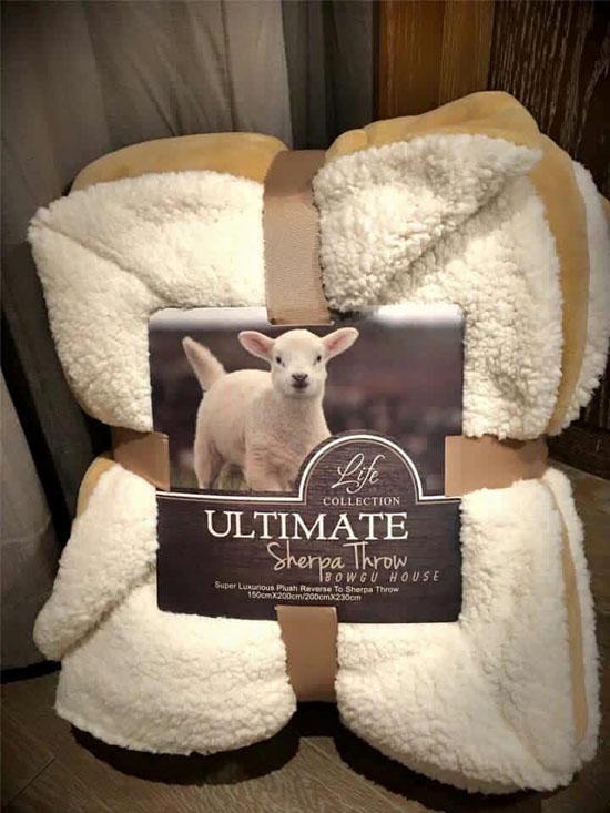 Chăn lông cừu Ultimate cao cấp nhập khẩu siêu nhẹ giá rẻ 2x2,3m nhiều màu