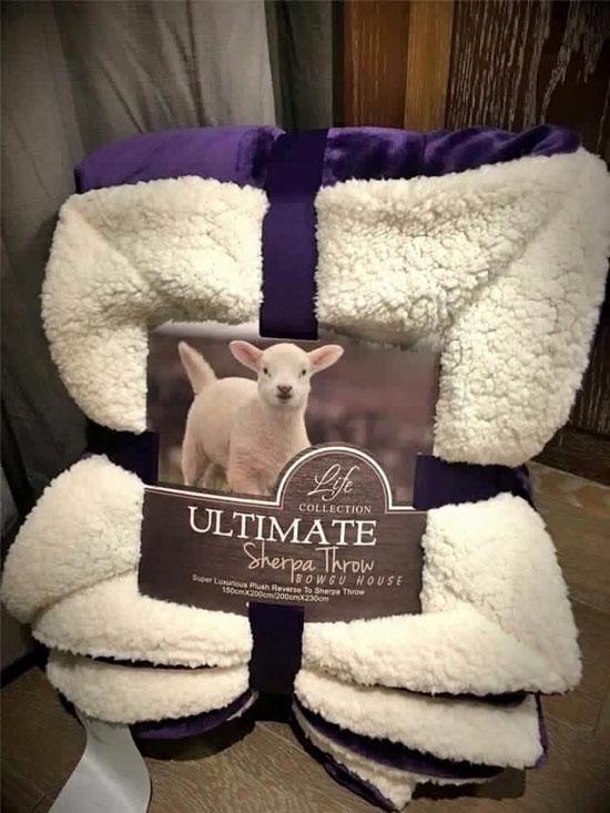 Chăn lông cừu Ultimate cao cấp nhập khẩu siêu nhẹ giá rẻ 2x2,3m ấm áp