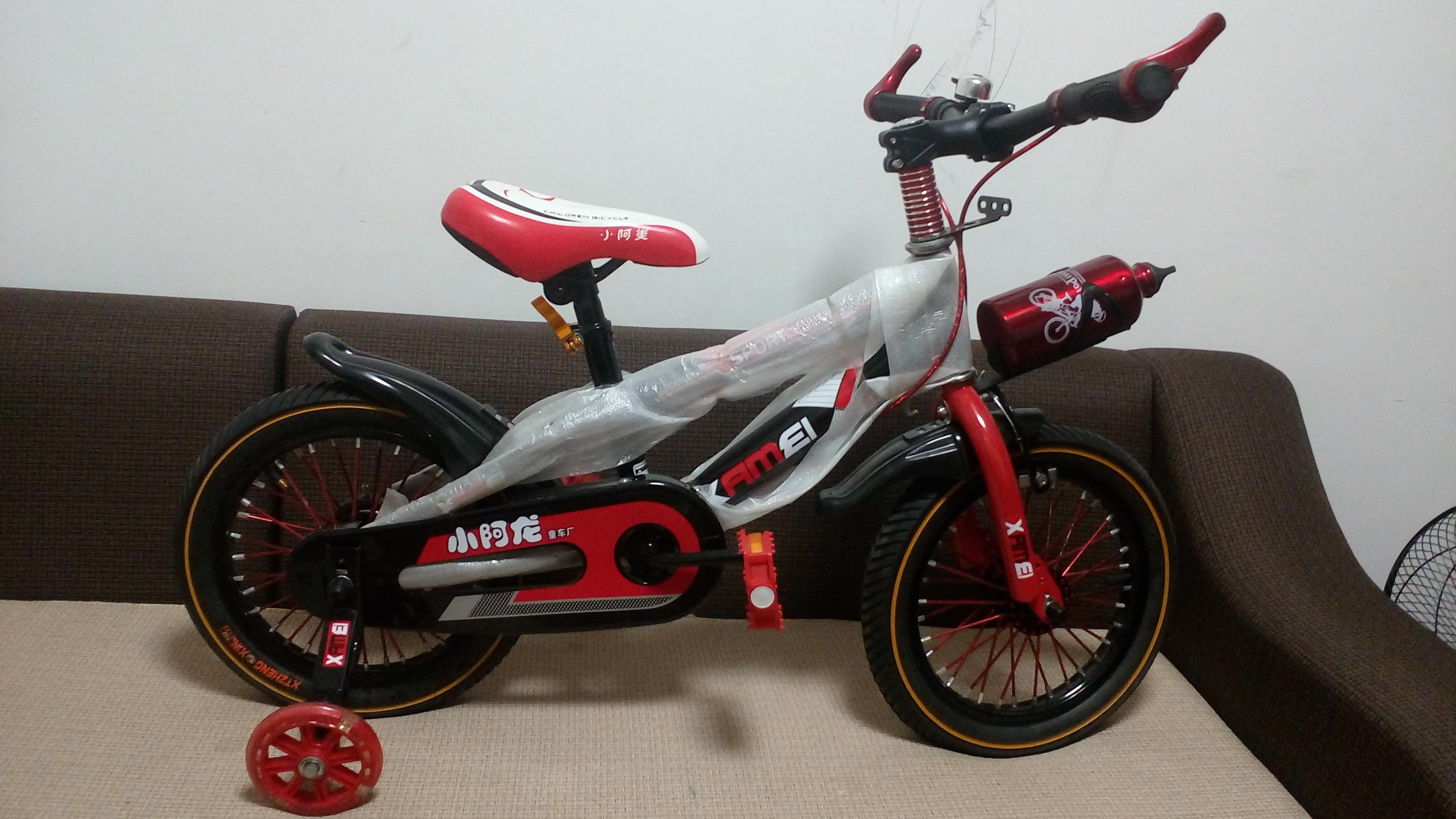 Xe đạp trẻ em cho bé 2, 3, 4, 5 tuổi màu đỏ cỡ 14 Xamei