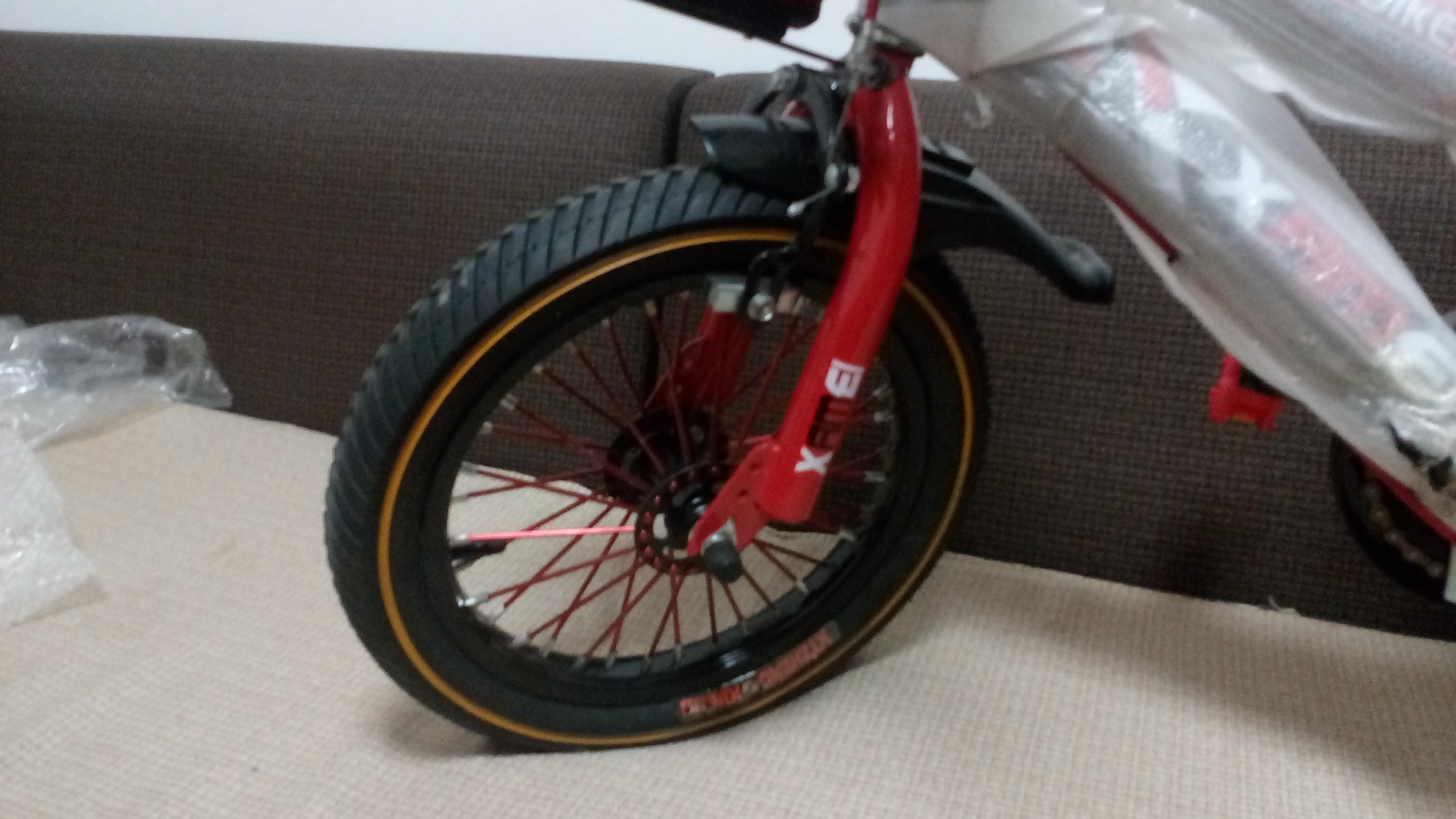 Xe đạp trẻ em cho bé 2, 3, 4, 5 tuổi màu đỏ cỡ 14 Xamei bánh trước
