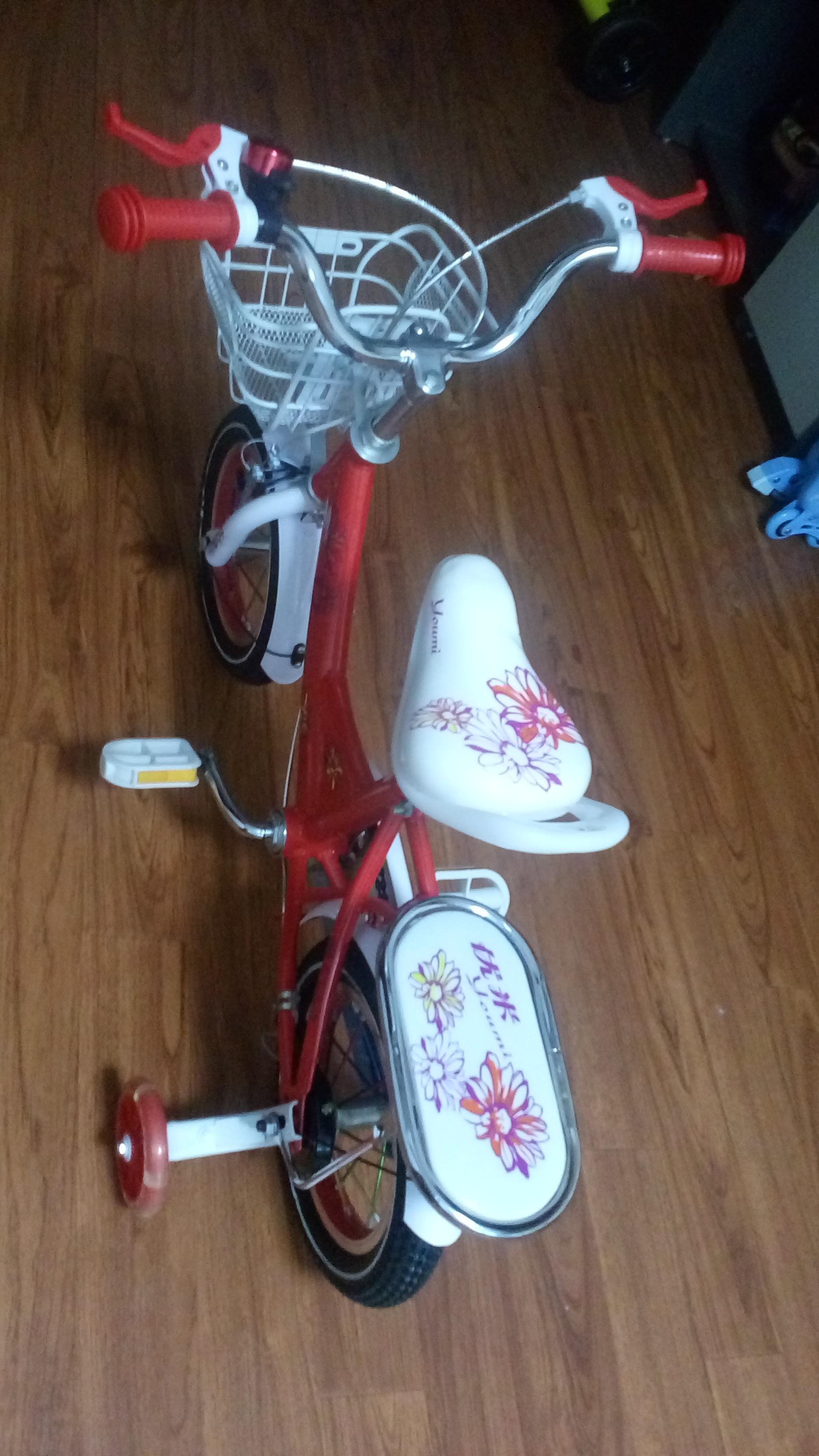 Xe đạp trẻ em cho bé 2, 3, 4, tuổi Youmi màu đỏ nhìn từ trên