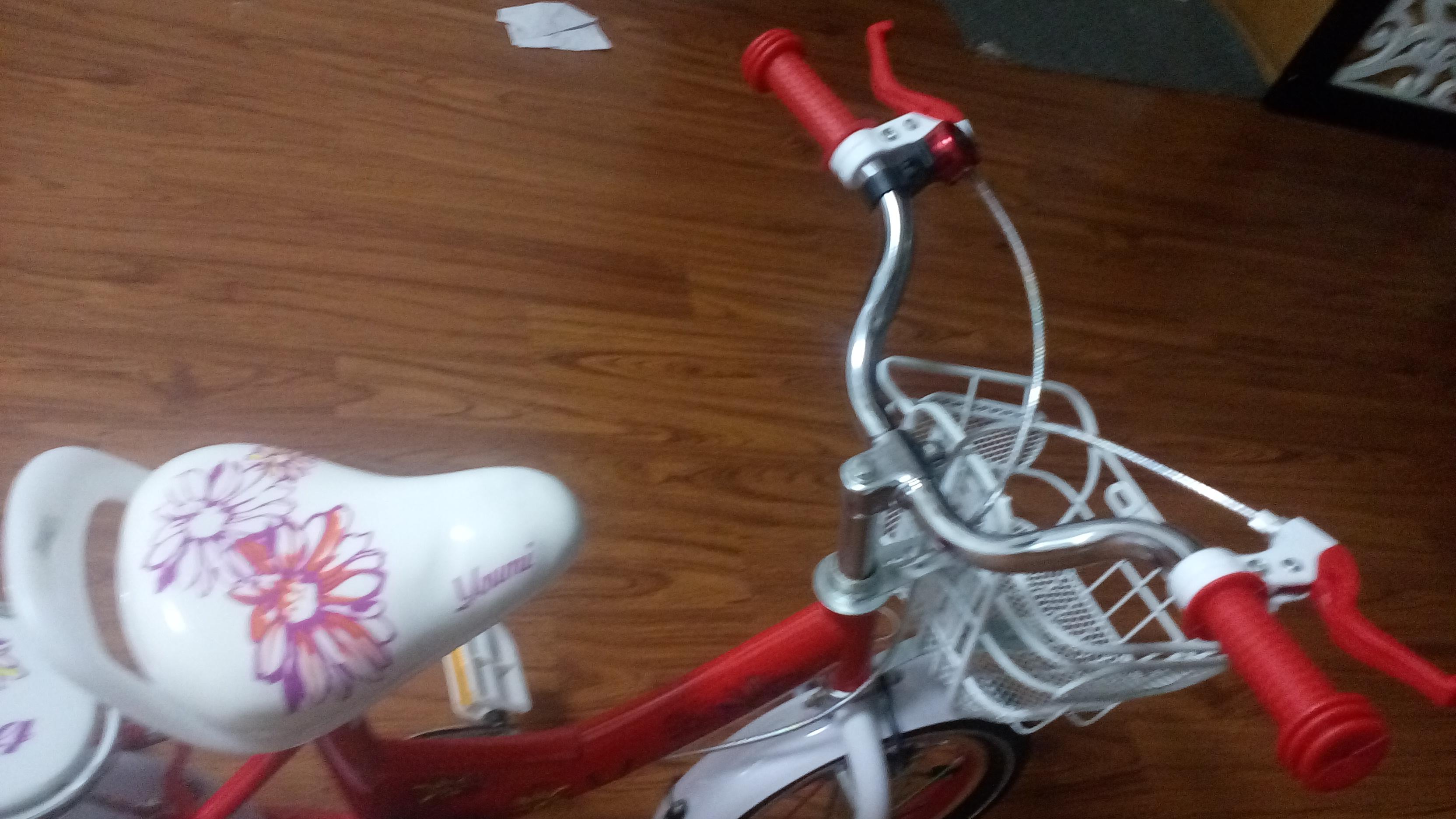 Xe đạp trẻ em cho bé 2, 3, 4, tuổi Youmi màu đỏ yên xe và tay lái