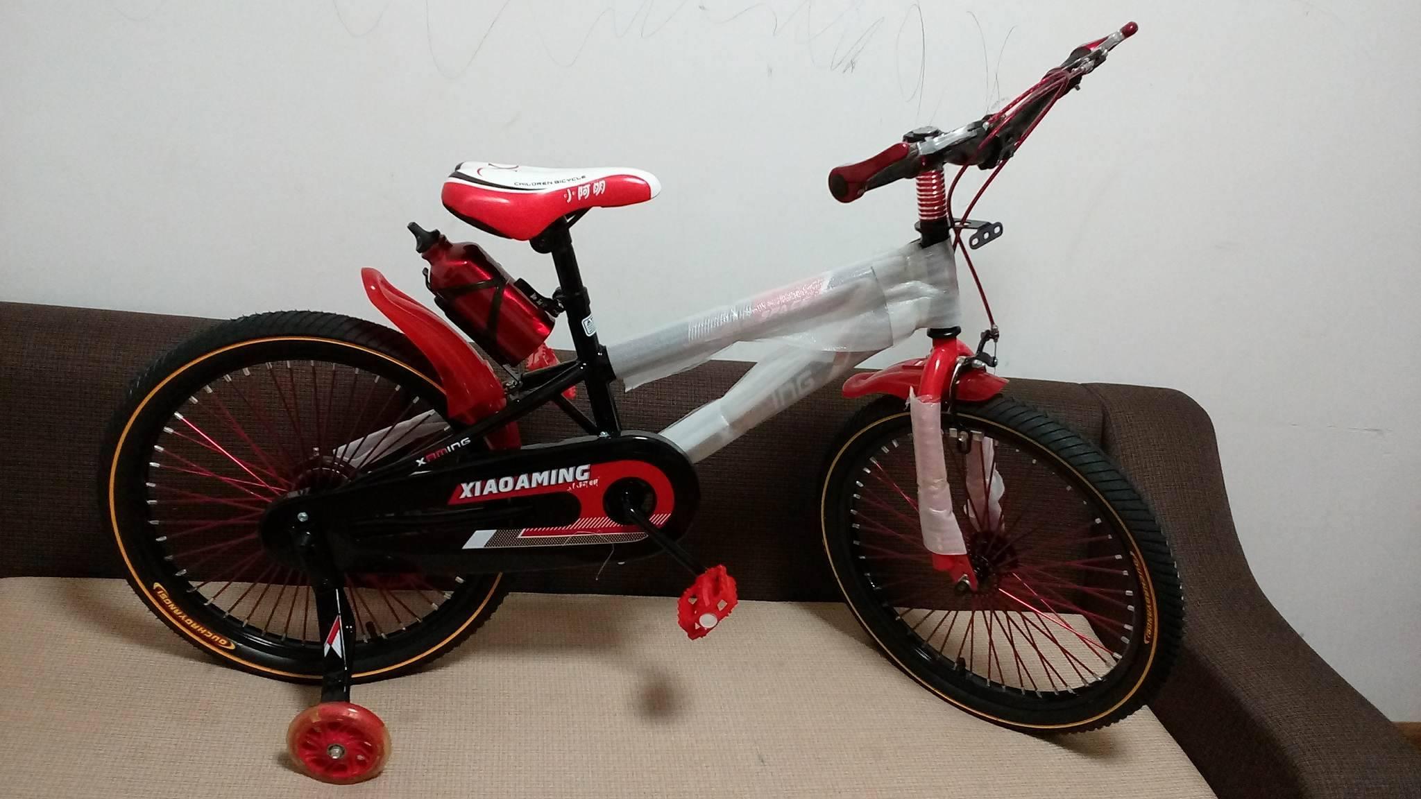 Xe đạp trẻ em cho bé 6, 7, 8, 9, 10, 11, 12 tuổi màu đỏ cỡ 20 Xiaoaming