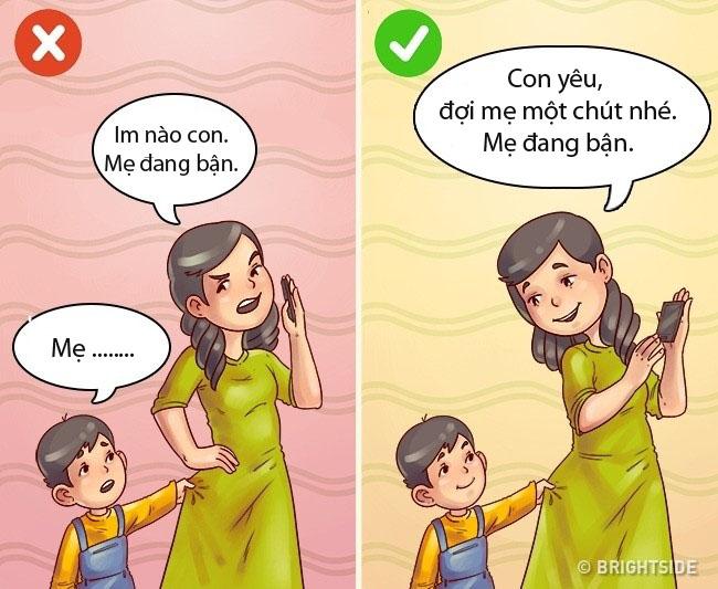 Cách dạy con thông minh trong từng trường hợp cụ thể